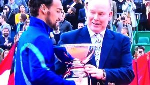 Immagine Tennis: Fabio Fognini vince il torneo di Montecarlo. I complimenti anche da Palazzo