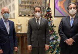 Da sinistra, Ino Bonello, Giuliano Alaimo e Sergio Scibilia