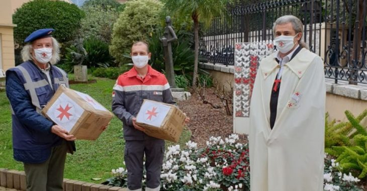 Immagine Il servizio di assistenza civile del V.E.O.S.P.S.S. ha donato le coperte isotermiche d'emergenza alla croce rossa monegasca